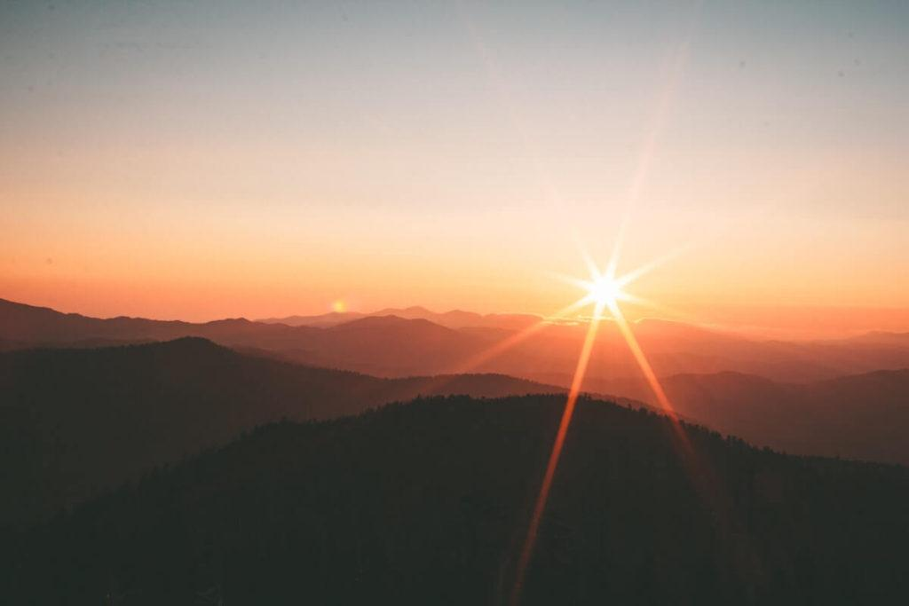 Sunset at Clingman's Dome in the Smokies - Best Time to Visit the Smoky Mountains -Visit Smoky Mountains