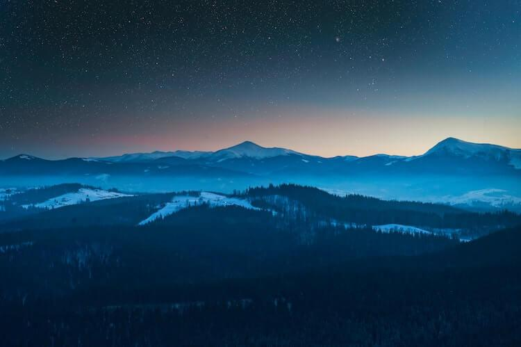 Wintery evening in the Great Smoky Mountains - Best Time to Visit the Smoky Mountains