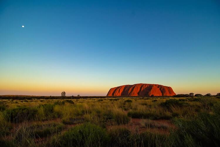 Uluru Rock in Australia - Best Honeymoon Destinations in December