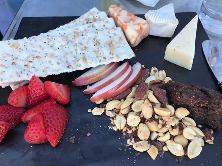 Cheese tray at Liquid Art in Killington