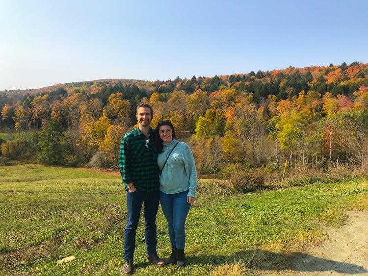 Kat and Chris at Sugarbush Farm