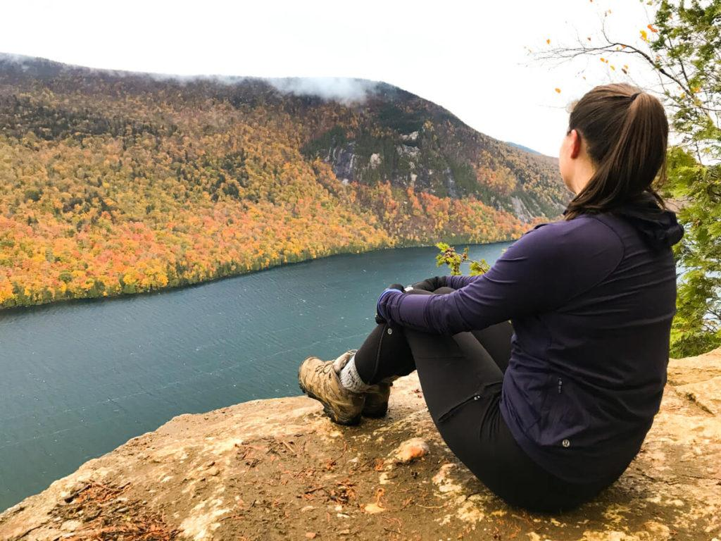 Kat looking out over Lake Willoughby