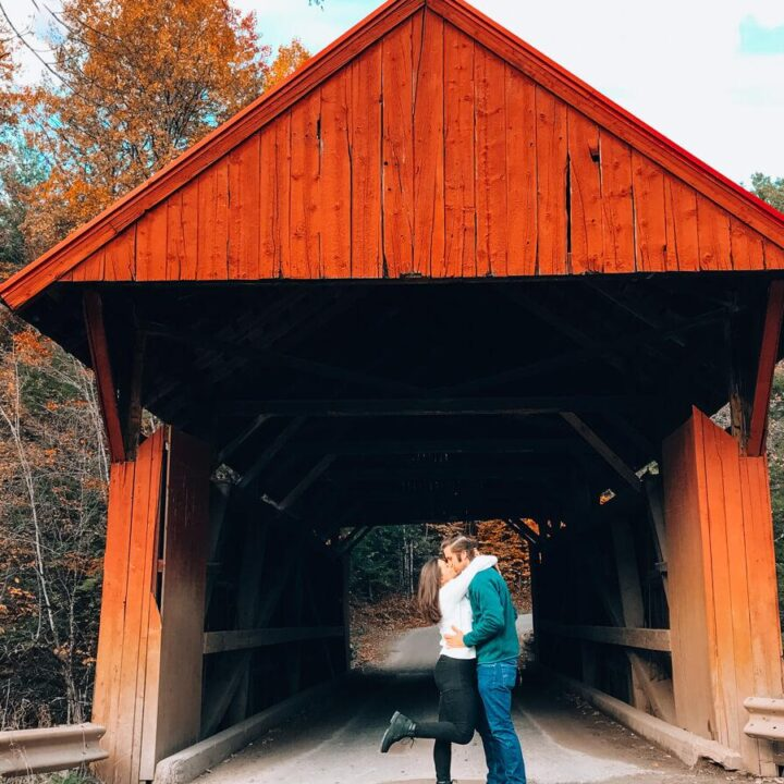 The Best Vermont Road Trip Itinerary in the Fall - Kat and Chris at Red Covered Bridge