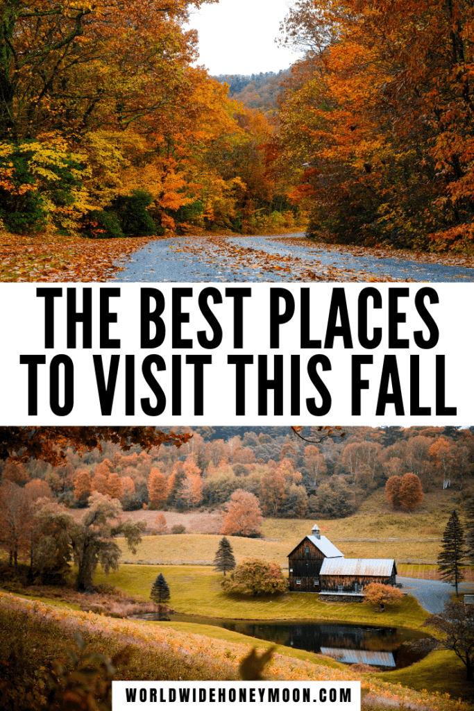 These are hands down the best US fall destinations | US Fall Travel Destinations | Best Fall Destinations in the US | Best US Destinations in the Fall | Fall Honeymoon Destinations in the US | US Honeymoon Destinations in the Fall | Fall Getaways US States | Fall Getaways East Coast | Autumn Weekend Getaway | Fall Travel Destinations USA | Best Fall Road Trips | Fall Destinations USA | October Travel Destinations US