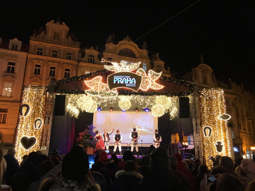 Live Performances at the Prague Christmas Market