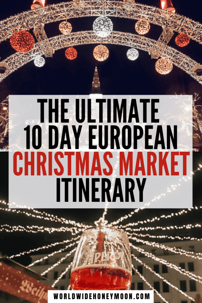 This is the ultimate 10 day Central European Christmas market trip itinerary | Europe Christmas Market Itinerary | Europe Christmas Markets Bucket Lists | Europe Christmas Market Food | Christmas Markets in Europe | Best Christmas Markets in Europe | Central Europe Itinerary | Christmas Market Ideas | Christmas Markets Europe | Best Places to Travel in December Europe | Vienna Christmas Market | Prague Christmas Market | Budapest Christmas Market | Bratislava Christmas Market