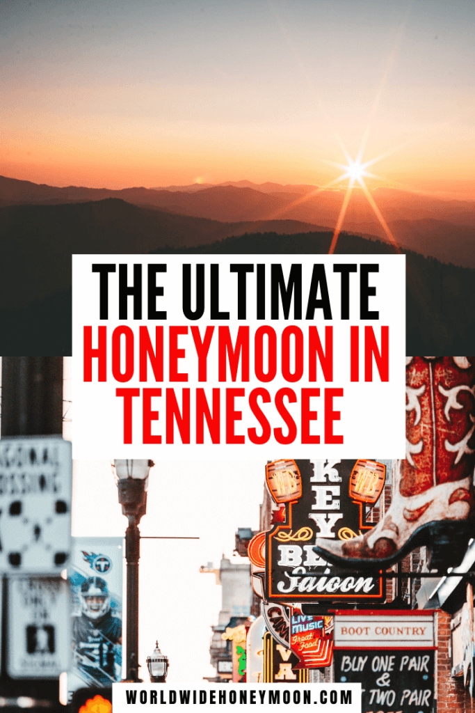 This is the ultimate guide on planning a honeymoon in Tennessee | Honeymoon in Tennessee Cabin Rentals | Honeymoon in Tennessee Pigeon Forge | Gatlinburg Tennessee Honeymoon | Nashville Tennessee Honeymoon | Pigeon Forge Tennessee Honeymoon | Knoxville Tennessee Honeymoon | Memphis Tennessee Honeymoon | Tennessee Vacation | Memphis Honeymoon | Romantic Getaway Tennessee