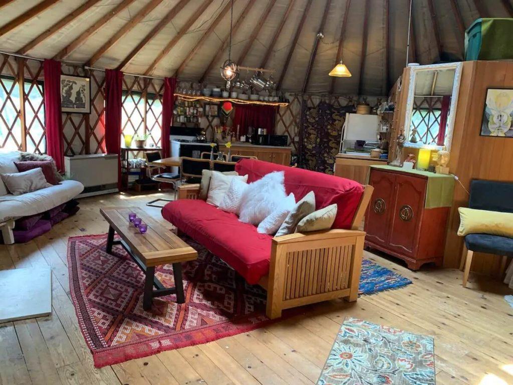 Yurt Airbnb in Vermont
