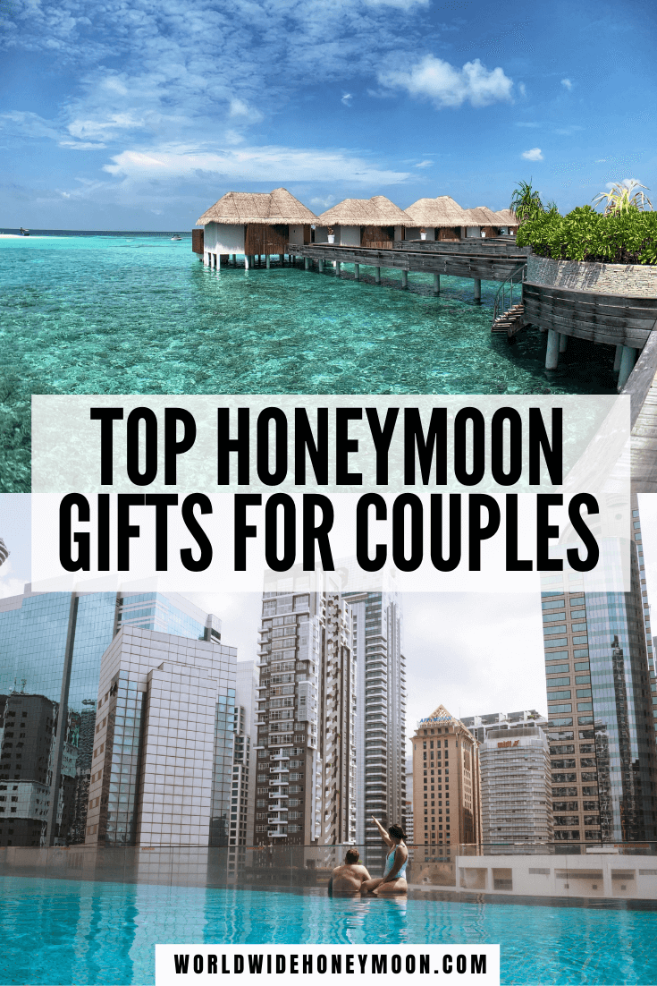From honeymoon fund ideas to gifts for the honeymoon, these are the perfect wedding registry gifts | Wedding Gift Ideas | Honeymoon Gift Ideas For Couple | Wedding Gift Ideas for Bride and Groom | Wedding Gifts | Wedding Registry Ideas Unique | Wedding Registry Must Haves | Honeyfund