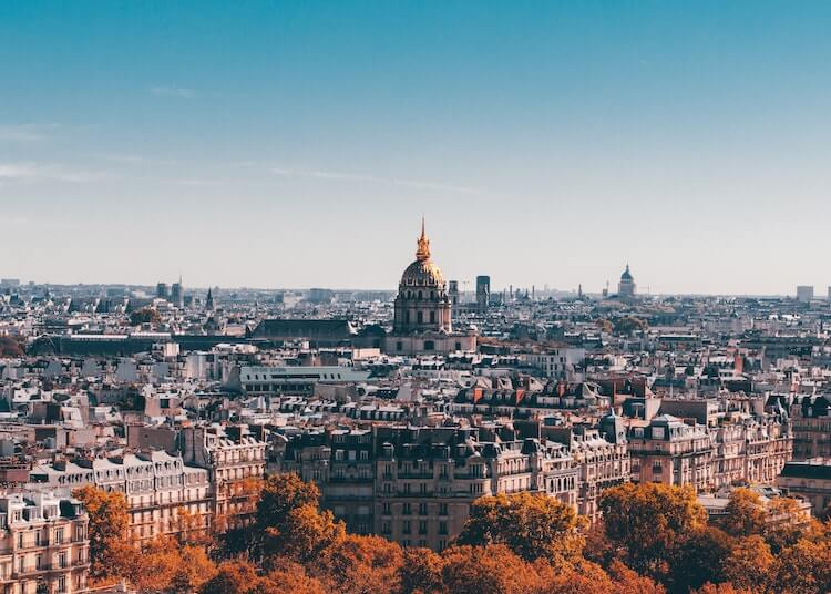 Paris bird's eye view fall