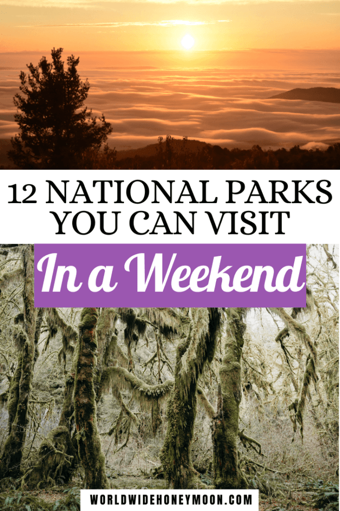 These are the top 12 national parks that you can visit in a weekend | National Parks Road Trip | Best US National Parks | National Parks USA | Best Weekend Trips in the US National Parks | National Parks Weekend | Weekend Trips USA National Parks | National Parks in the US | National Parks in the South | National Parks in the Winter | US Destinations