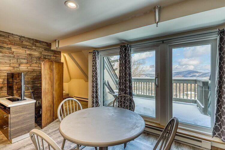 Killington VRBO with mountain views from the balcony