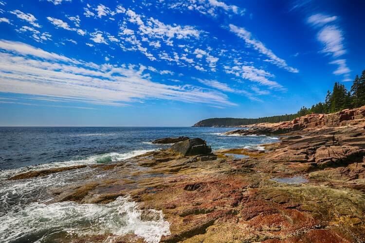 Acadia National Park shoreline in Maine
