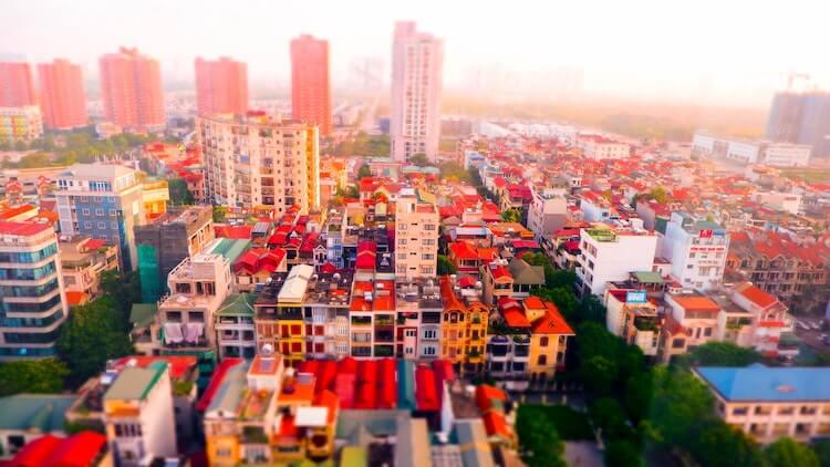 Bird's eye view of the Hanoi Skyline - 1 Day in Hanoi