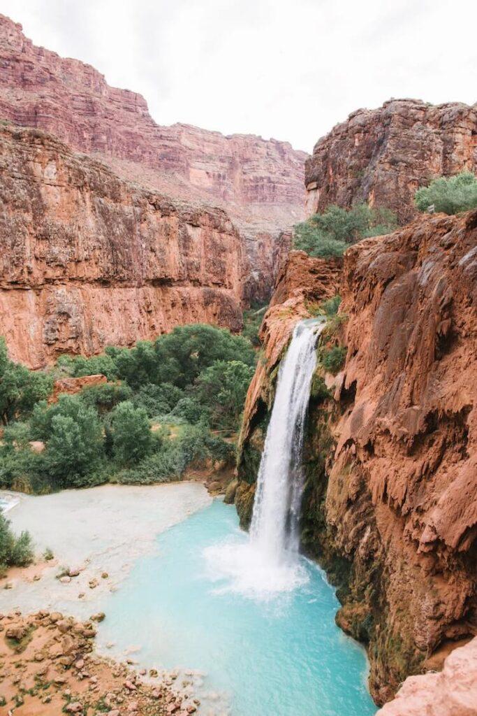 Havasu Falls in the Grand Canyon National Park