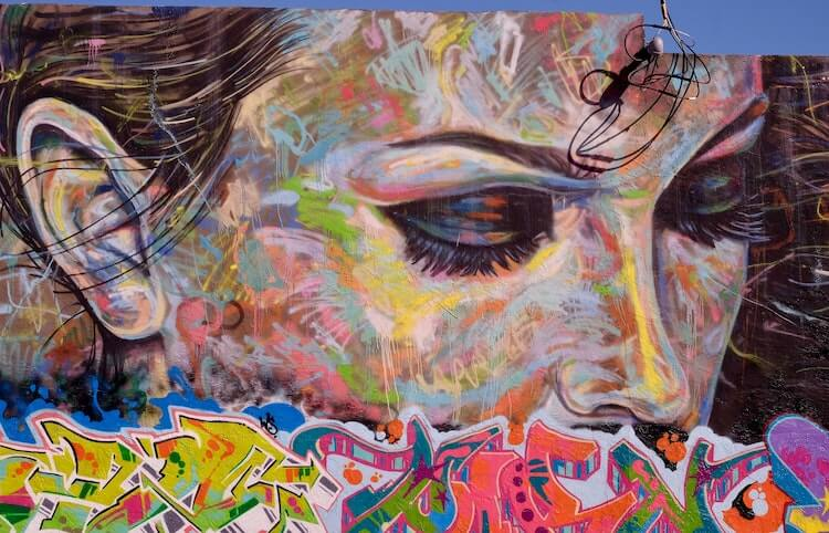 Mural of a woman at the Wynwood Walls in Miami
