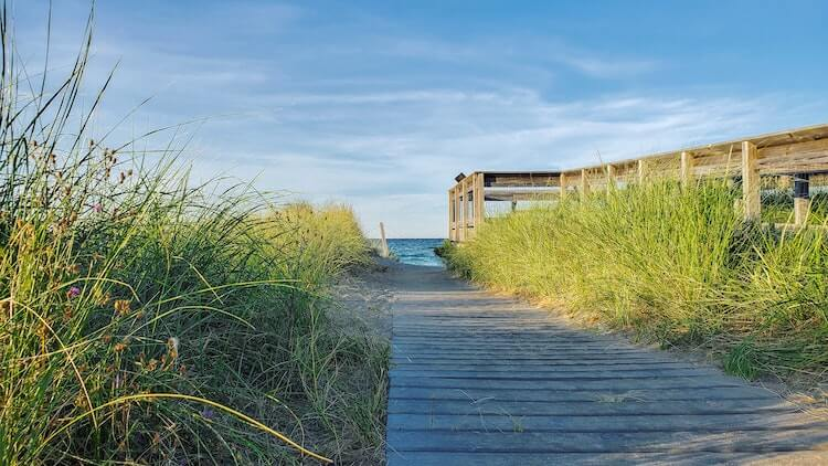 Path leading to the beach in the Upper Peninsula Michigan