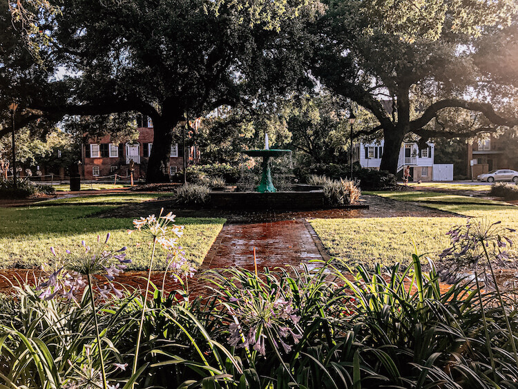 Columbia Square with Fountain