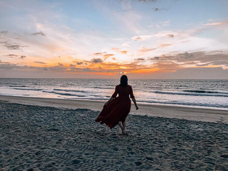 Exploring the sunrise on Tybee Island