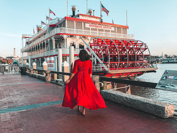 Georgia Queen on the Savannah River