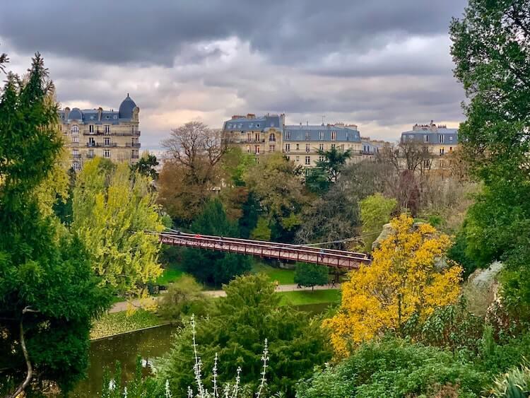 Parc des buttes chaumont overlooking paris