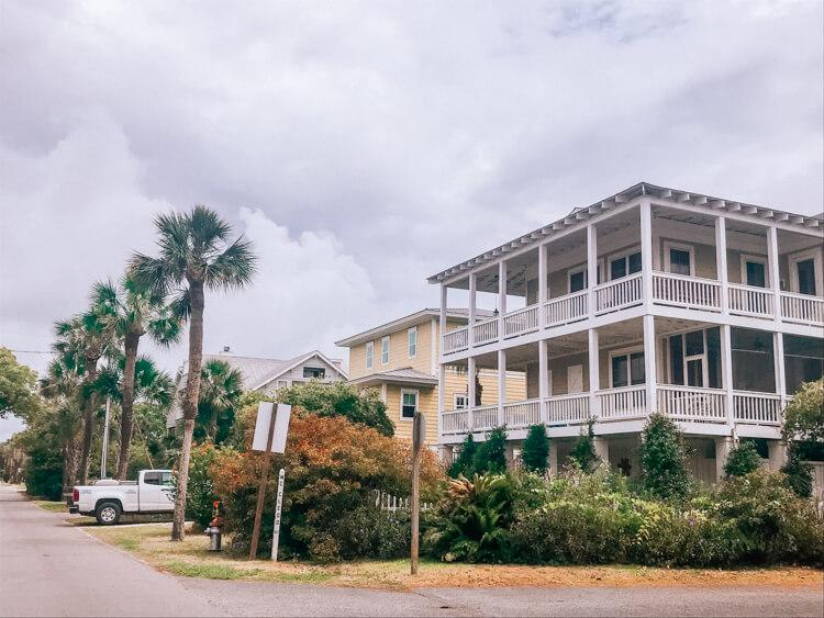 Beautiful homes on Tybee Island