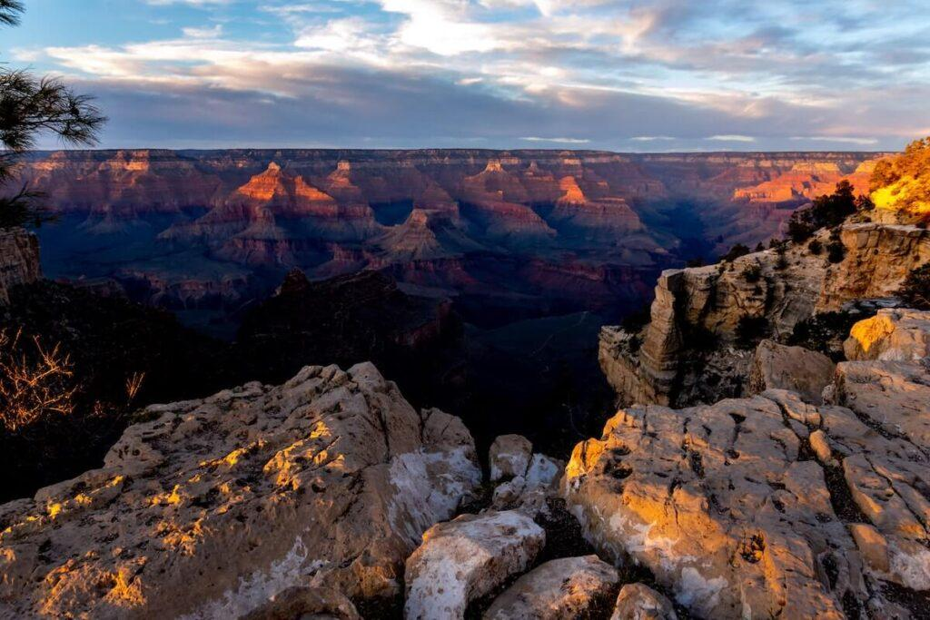 Dusk in the Grand Canyon - National Park Honeymoon