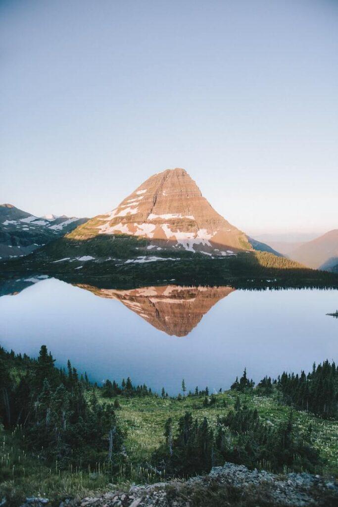 Glacier National Park lake - National Park Honeymoon