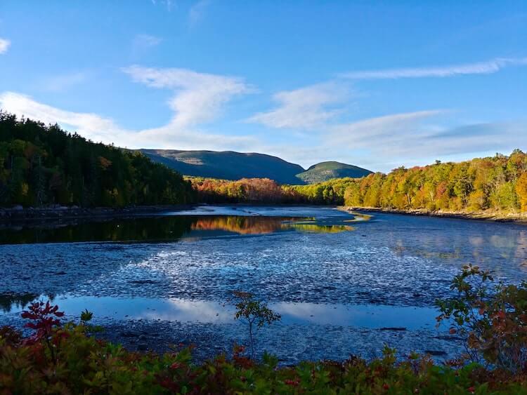 Lake inside of Acadia National Park