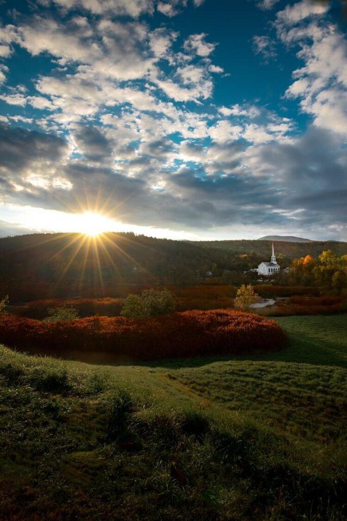 Sunrise over Stowe