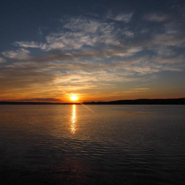 Chautauqua Lake Things to do For a Weekend Getaway | Sunset over Chautauqua Lake