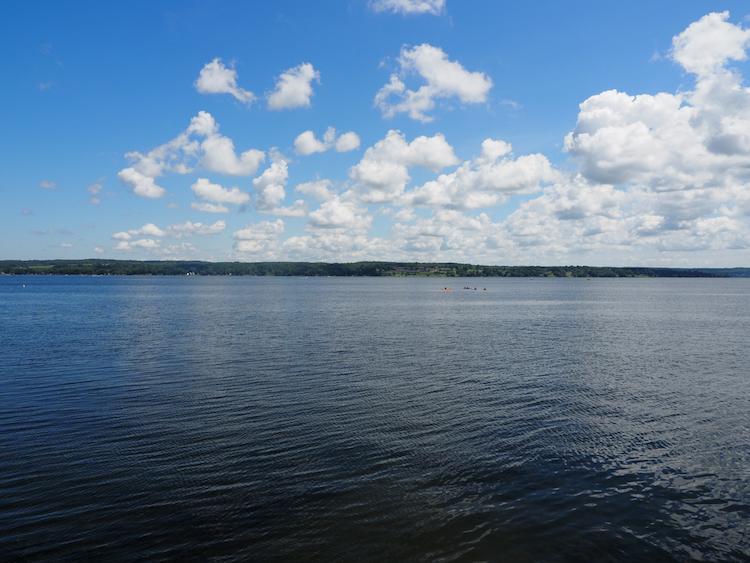 Chautauqua Lake on a warm, sunny day