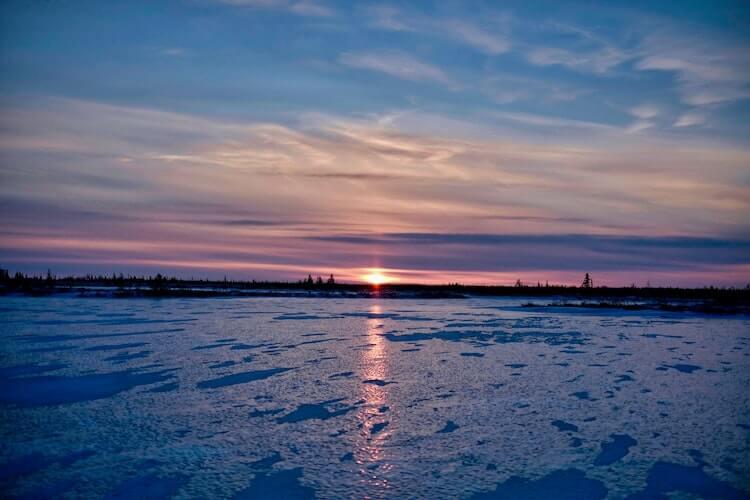Churchill Canada at sunset