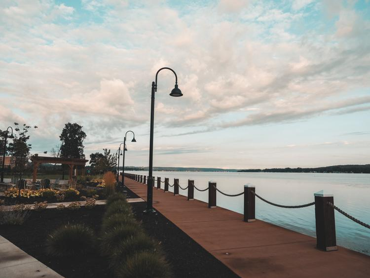 Pathway along Chautauqua Lake at Chautauqua Harbor Hotel