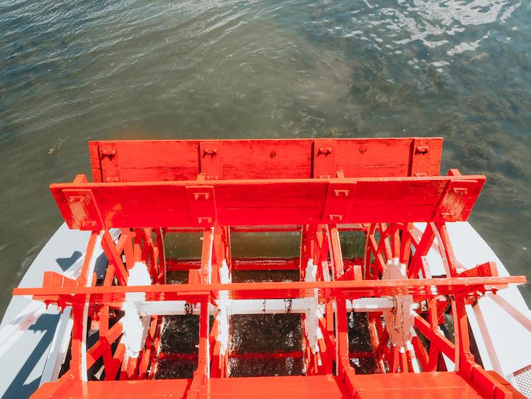 Red Paddlewheel of Chautauqua Belle