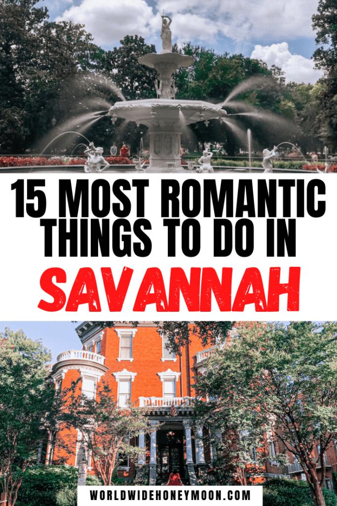Romantic Things to do in Savannah