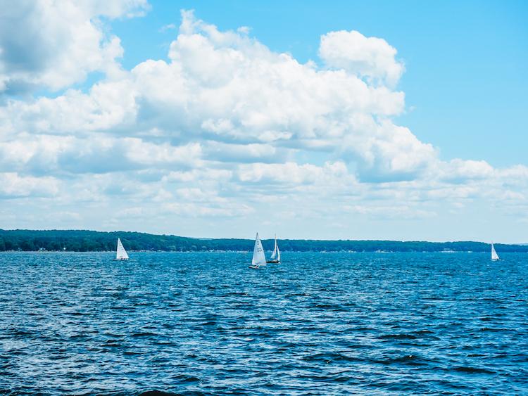 Sailboats on Chautauqua Lake | Chautauqua Lake Things to do