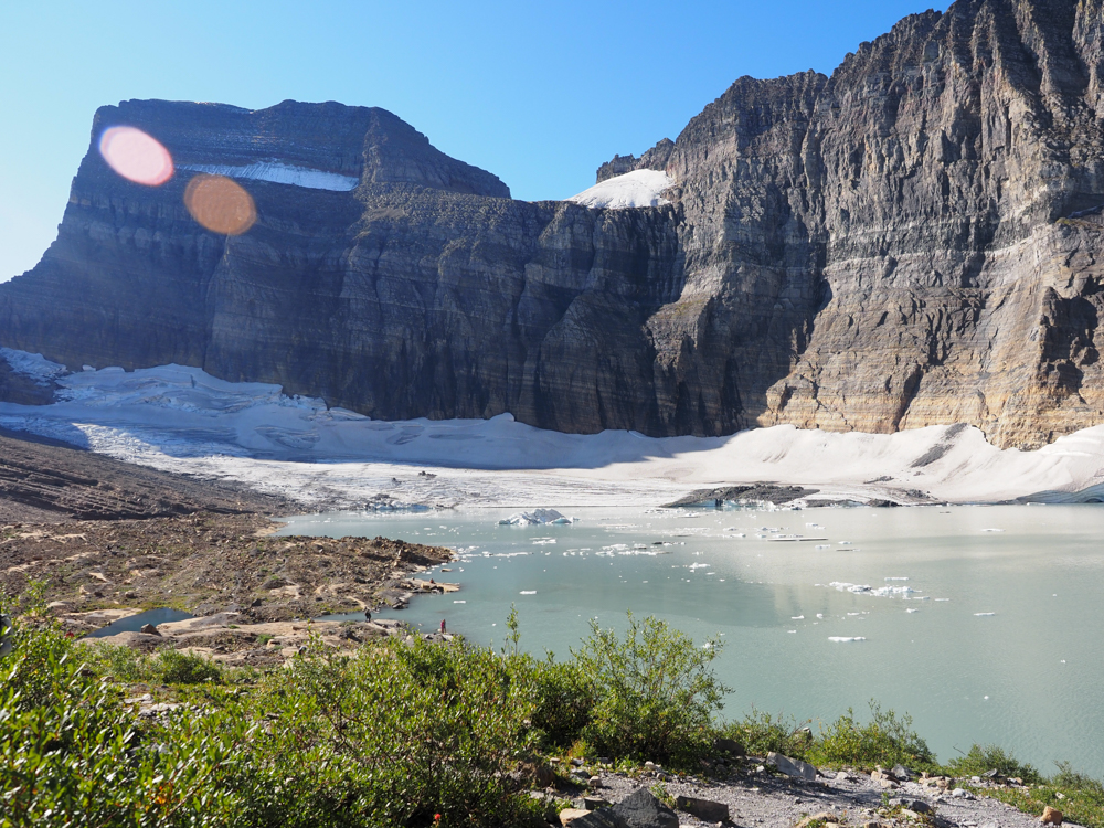 Full view of the mountain and Grinnell Glacier