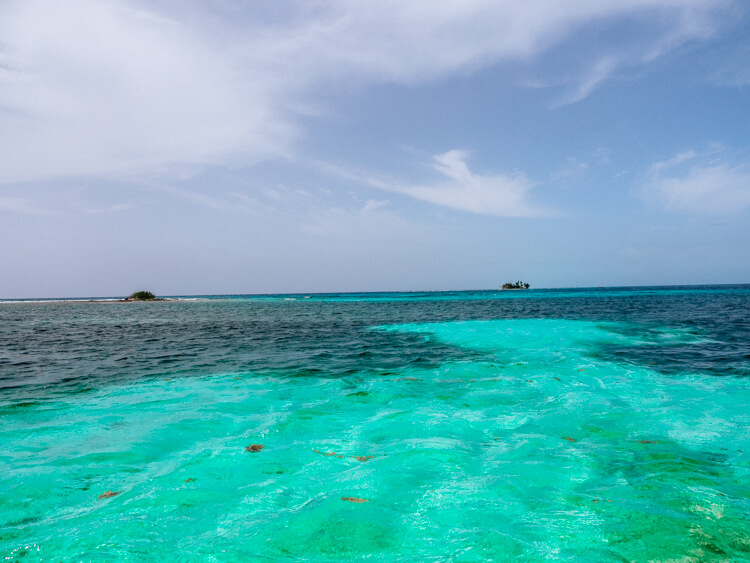 Belize Barrier Reef from boat - Belize Itinerary