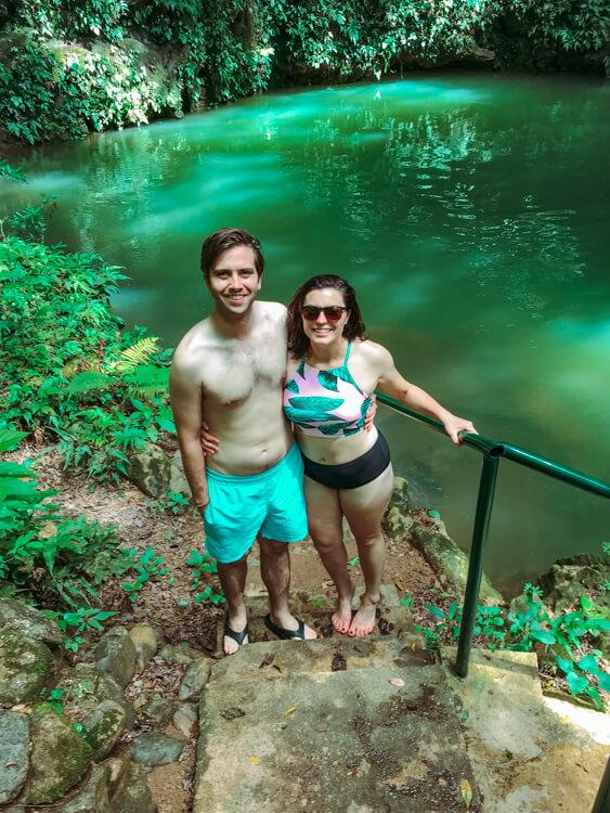 Kat and Chris in a Cenote