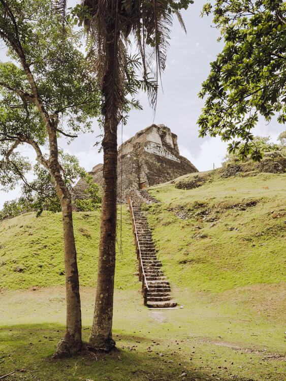 Stairs and Xunantunich
