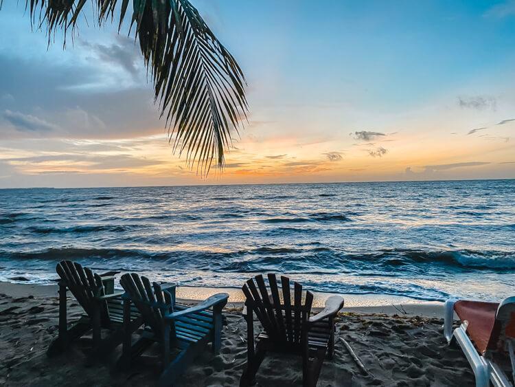Sunrise over ocean at Hopkins Bay Resort