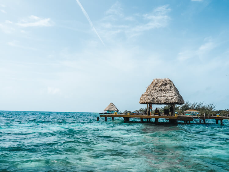 Thatch Caye near the Great Barrier Reef