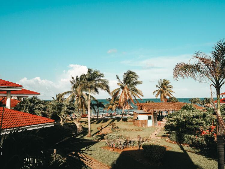 Ultimate Belize Itinerary - Hopkins Bay Resort view from villa over the ocean